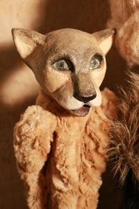 Tier Katze Handpuppe Kaspele Geschenkidee handmade Valérie Bayol Hamburg St Georg