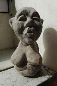 Handpuppe als Skulptur handpuppen marionette Skulpturen Tierportrait hamburg Sankt Georg figurart Valerie Bayol