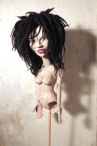 Marionetten als Skulpturhandpuppen marionette Skulpturen Tierportrait hamburg Sankt Georg figurart Valerie Bayol