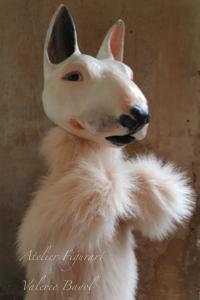 Tierportrait handpuppen marionette Skulpturen Tierportrait hamburg Sankt Georg figurart Valerie Bayol