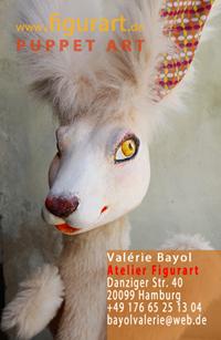 der weisse Hase handpuppe-tier-hase-Unikat-handmade-Valerie-Bayol-Hamburg-St. Georg-Atelier-Figurart