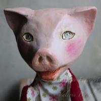 Tierhandpuppe-Handpuppe-Schwein-Kasperlepuppe-Kinderspielzeug-Maerchen