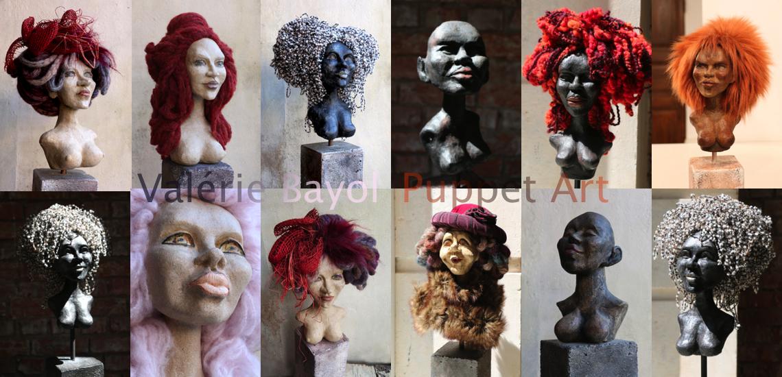 sculptures puppet artist Valerie Bayol